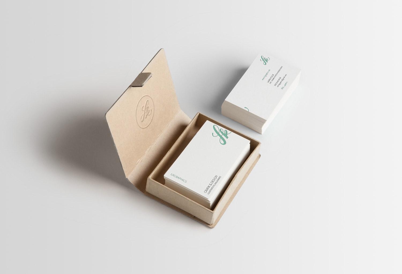 Businesskarten lkgraphics mit Box